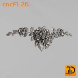 Цветочный узор cncFL26 - 3D ЧПУ