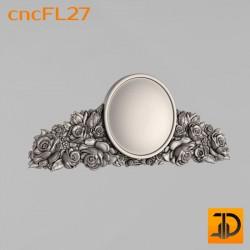 Цветочный узор cncFL27 - 3D ЧПУ