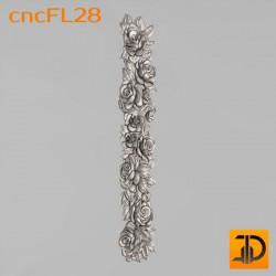 Цветочный узор cncFL28 - 3D ЧПУ