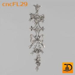 Цветочный узор cncFL29 - 3D ЧПУ