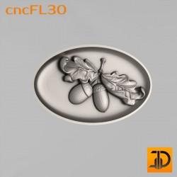 Цветочный узор cncFL30 - 3D ЧПУ