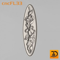 Цветочный узор cncFL33 - 3D ЧПУ