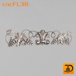 Цветочный узор cncFL38 - 3D ЧПУ