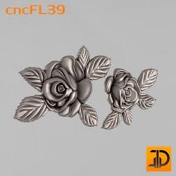 Цветочный узор cncFL39 - 3D ЧПУ