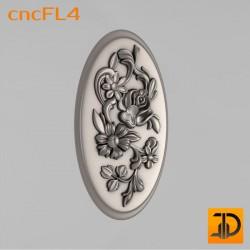 Цветочный узор cncFL4 - 3D ЧПУ