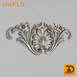 Цветочный узор cncFL5 - 3D ЧПУ