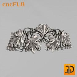 Цветочный узор cncFL8 - 3D ЧПУ