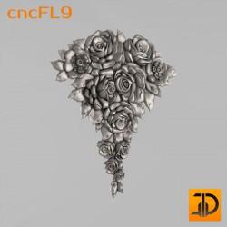 Цветочный узор cncFL9 - 3D ЧПУ