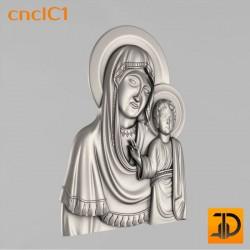 """Икона """"Божьей Матери"""" cncIC1 - 3D модель ЧПУ"""