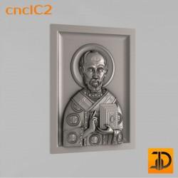 """Икона """"Николая Чудотворца"""" cncIC2 - 3D модель ЧПУ"""