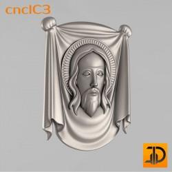 Лик Иисуса Христа cncIC3 - 3D модель ЧПУ