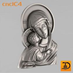"""Икона """"Божьей Матери"""" cncIC4 - 3D модель ЧПУ"""