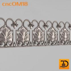 Орнамент cncOM18 - 3D ЧПУ