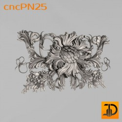 Резная панель cncPN25 - 3D ЧПУ