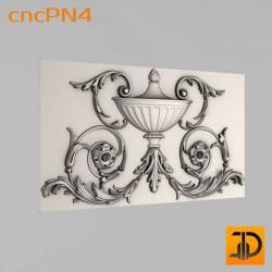 Резная панель cncPN4 - 3D ЧПУ
