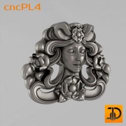 Резной лик - cncPL4