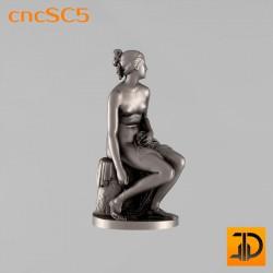 """Скульптура """"Нимфа"""" cncSC5 - 3D модель ЧПУ"""