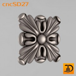 Square decor cncSD27 - 3D CNC