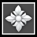 Резные цветочные узоры